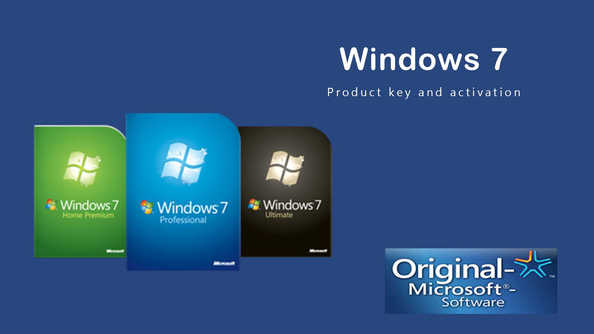 windows 7 original product key 2019