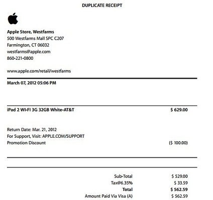 apple invoice template  Apple Invoice/Receipt Template - rocketr.net