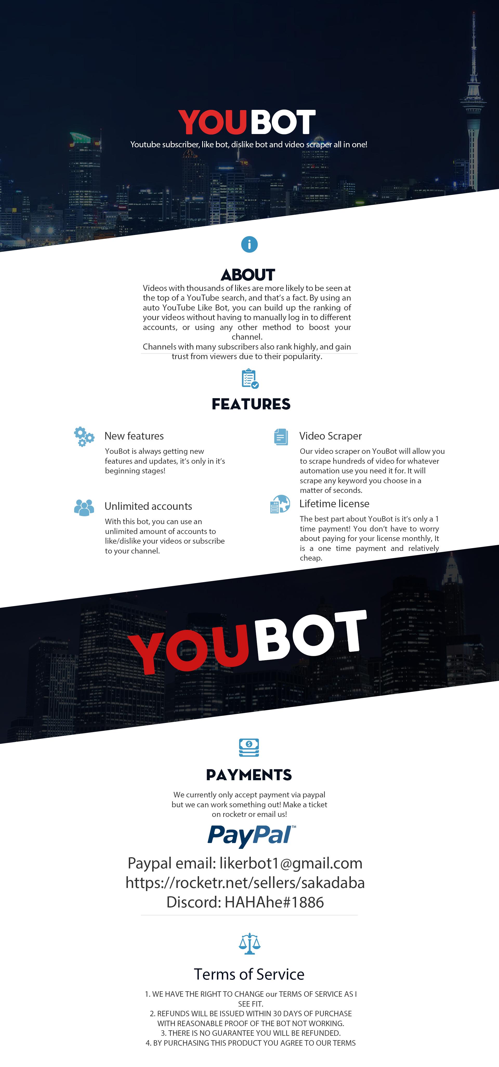 YouBot   Subscribe Bot   Like Bot   Dislike Bot   2019