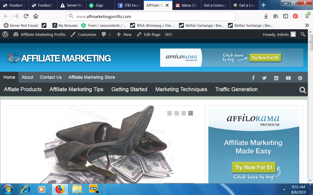 Sale of www.affmarketingprofits.com
