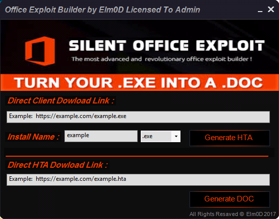 Silent Office Exploit Builder 2017