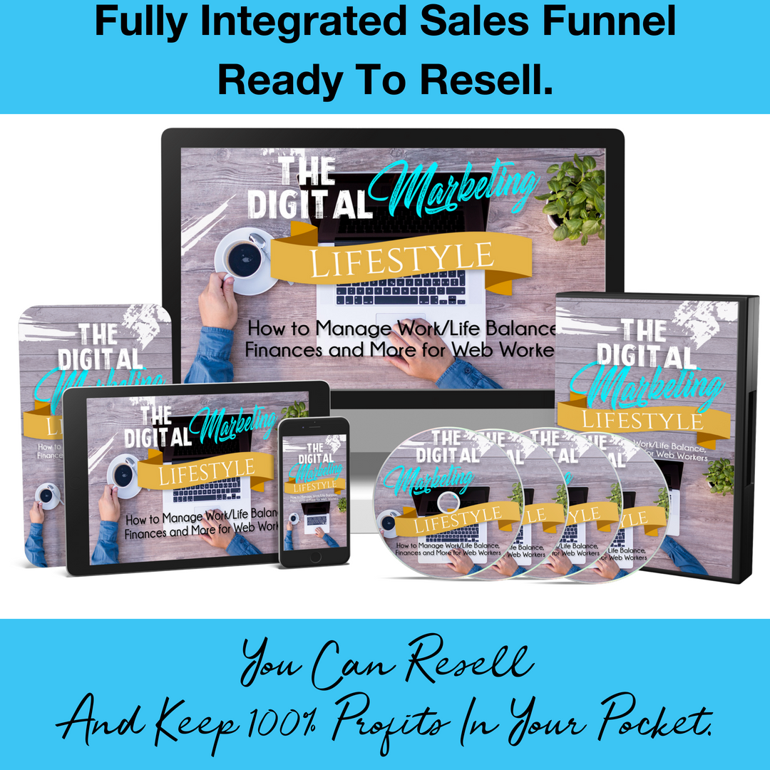 The Digital Marketing Lifestyle Course & Sales Funnel
