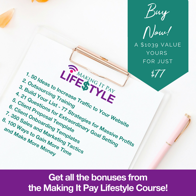 Making It Pay Lifestyle Bonuses
