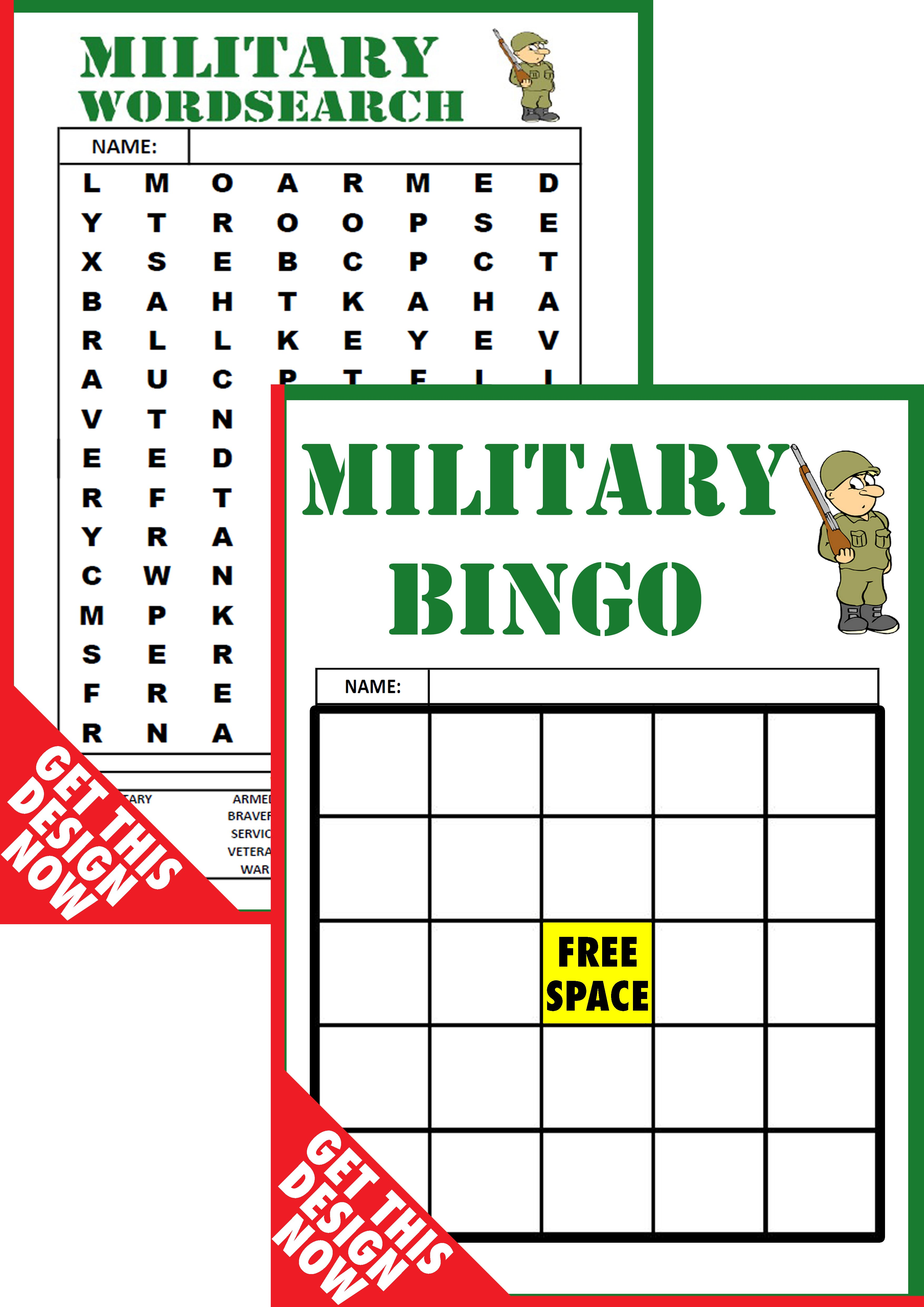 image relating to Printable Party Games identify Army Printable Social gathering Online games Package deal