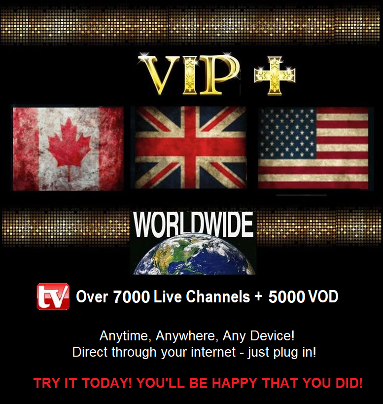 VIP+ Plus IPTV Pack 1- Month Subscription.