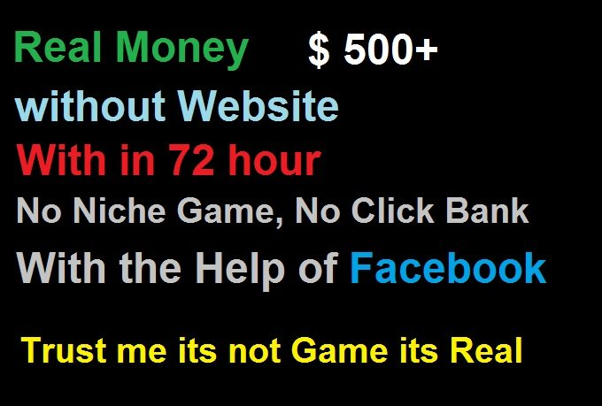 Make $500 in 72 hour with Facebook