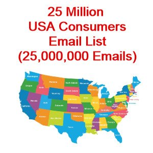 25 Million USA Consumers Email Database