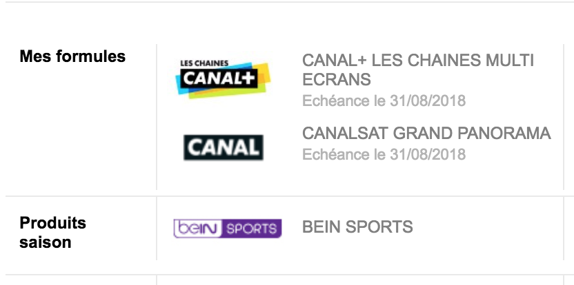 compte bein sport canalsat canal chaines multi. Black Bedroom Furniture Sets. Home Design Ideas