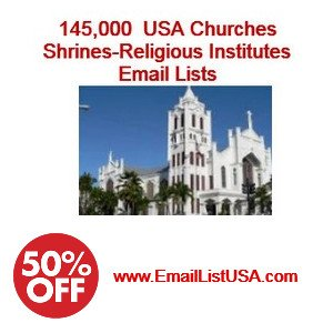 Churches Email database USA