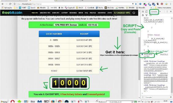 Hack Freebitcoin Roll 1000 Script
